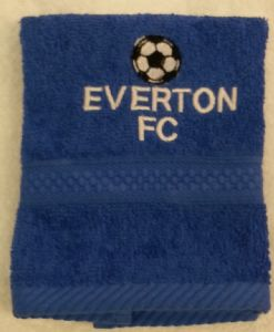 EVERTON PERSONALISED FACE CLOTH